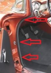 GM - 1955-57 Chevy Original Style Windlace/Kick Panel Retainers Pair - Image 2