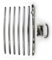1955-57 Chevy Nomad/Pontiac Safari 8-Piece Chrome Tailgate Bar & Handle Set - Image 2
