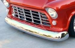 1955-59 Chevy & GMC Truck Chrome Front Bumper - Image 2