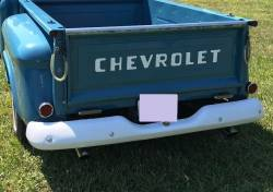 1955-59 Chevy & GMC Stepside Truck Painted Rear Bumper - Image 2