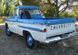 1958-59 Chevy & GMC Fleetside Chrome Rear Bumper - Image 2