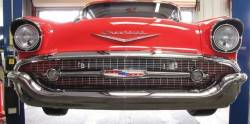 "1957 Chevy Chrome ""Smoothie"" Front Bumper - Image 2"