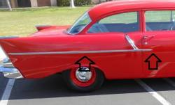 1957 Chevy 2-Door 150 Series  Stainless Steel Side Trim Set - 4 Pieces - Image 1