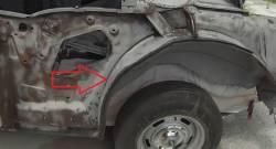 1955-57 Chevy 2-Door Hardtop Left Forward Outer Wheelhouse Panel - Image 1