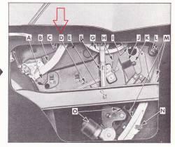 1956-57 Chevy 4-Door Hardtop Right Rear Door Window Inner Panel Cam Guide - Image 3