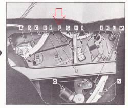 1956-57 Chevy 4-Door Hardtop Right Rear Door Window Center Guide - Image 2