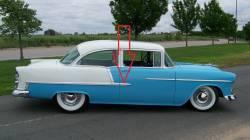 1955 Chevy Bel Air 2-Door Sedan Right Lower Stainless Steel Door Molding - Image 2