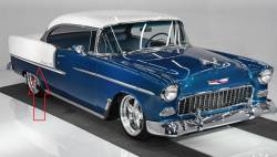 1955 Chevy Bel Air 2-Door Hardtop, Convertible & Sedan Right Lower Stainless Steel Quarter Molding - Image 2