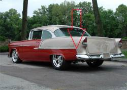1955 Chevy Stainless Steel Lower Paint Dividers Pair - Image 2