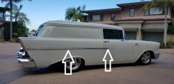 1957 Chevy 2-Door 150 Series  Stainless Steel Side Trim Set - 4 Pieces - Image 3