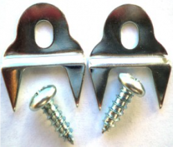 1955-57 Chevy Door Weatherstripping Fork Clips Pair - Image 1
