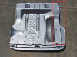 1955-57 Chevy Right Side Trunk Floor Repair Panel - Image 2