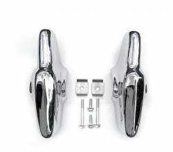 1957 Chevy Chrome Rear Bumper Accessory Guards Pair - Image 2