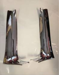"GM - 1955-57 Chevy Convertible Inner Vertical Windshield Chrome ""A-Pillar"" Moldings Pair - Image 1"