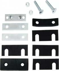 1955-57 Chevy - Radiator Support - 1955-57 Chevy Radiator Support Mount & Shim Kit Complete
