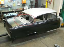 GM - 1955-57 Chevy 2&4-Door Sedan Rear Package Tray/Deck Filler Panel - Image 2