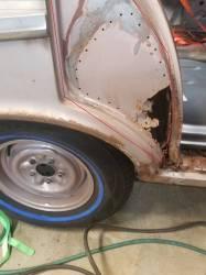 GM - 1956-57 Chevy 4-Door Hardtop Sport Sedan Rear Door Jamb Repair Panels Pair - Image 2
