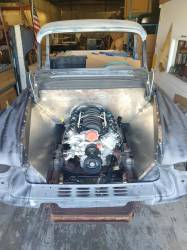 1955-57 Chevy & GMC Truck Custom Steel Front Inner Fenders Pair - Image 4