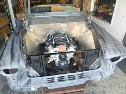 1955-57 Chevy & GMC Truck Custom Steel Front Inner Fenders Pair - Image 7